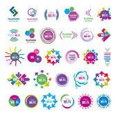 Fotografie Größte Sammlung von Vektor-Logos wifi