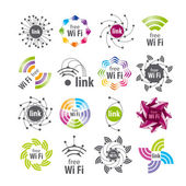 Fotografie Sammlung von Vektor-Logos WiFi-Verbindung