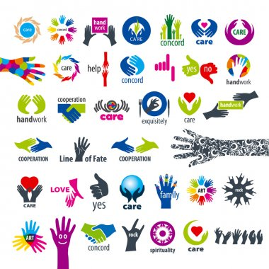 biggest collection of vector logos hands