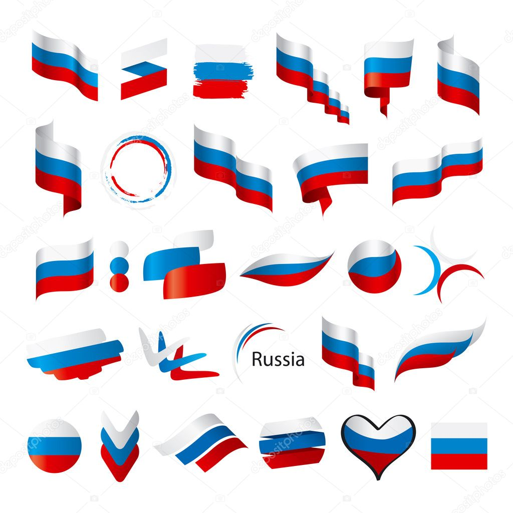 Biggest collection of vector flags of Russia