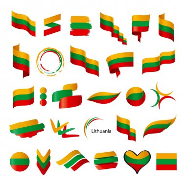 biggest collection of vector flags of Lithuania