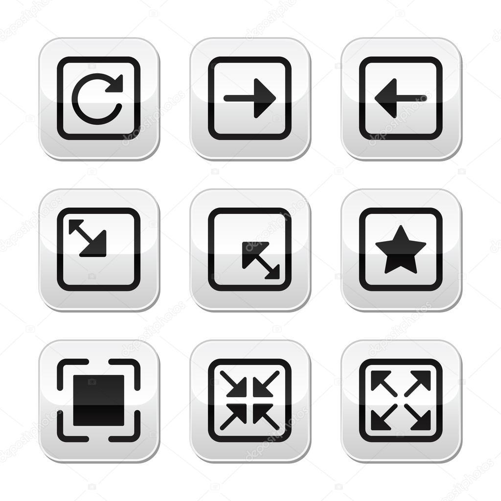 Website Screen Size Buttons Set Full Screen Minimize Refresh Stock Vector C Redkoala 13487116