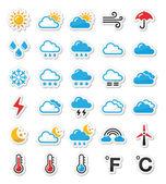 Fotografie Wetter Icons Set als Etiketten - vector