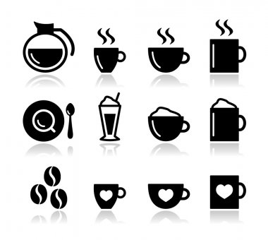 Coffee icon set - vector