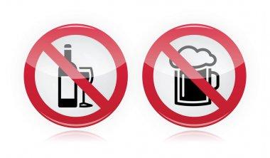 Drinking problem - no alcohol, no beer warning sign