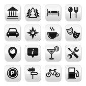 Fotografie Travel tourism buttons set - vector