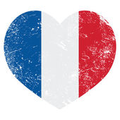 Photo France heart retro flag