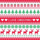 Photo I love Christmas pattern - scandynavian sweater style