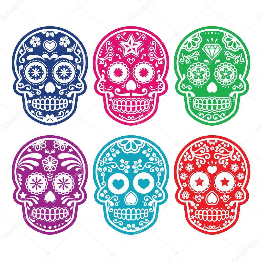 Calaverita De Azucar Tatuaje Calavera De Azúcar Mexicana Dia De