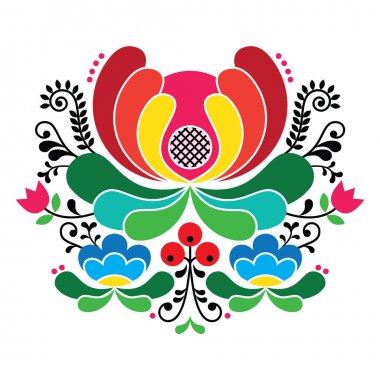 Norwegian folk art pattern - Rosemaling style embroidery