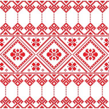 Ukrainian folk art floral embroidery pattern or print