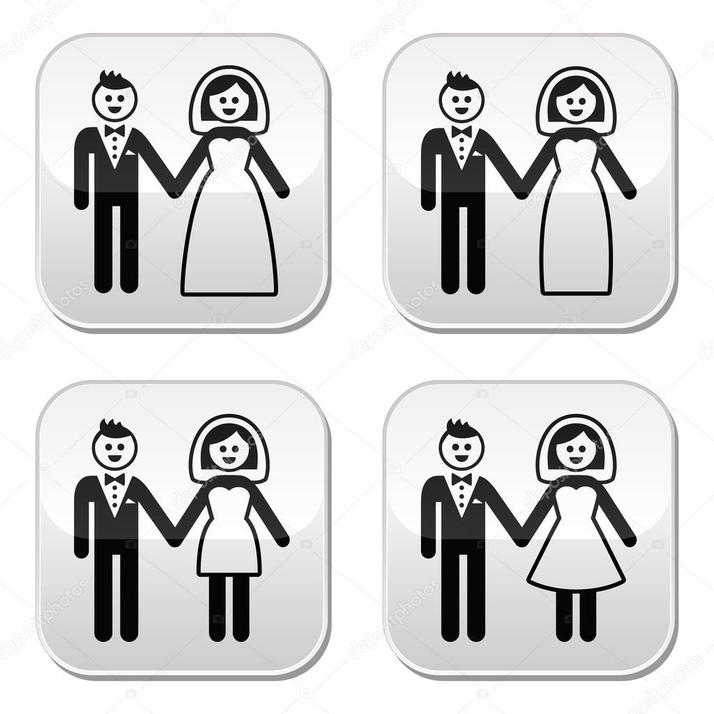 98aa1b6b3b Conjunto de iconos boda