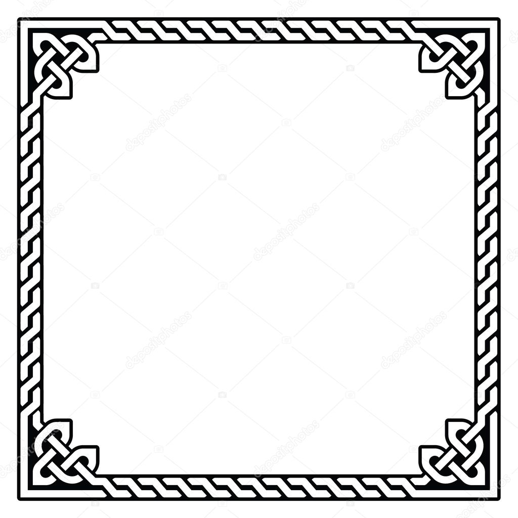 celtic frame border pattern vector stock vector redkoala rh depositphotos com celtic vector border designs celtic circle border vector free