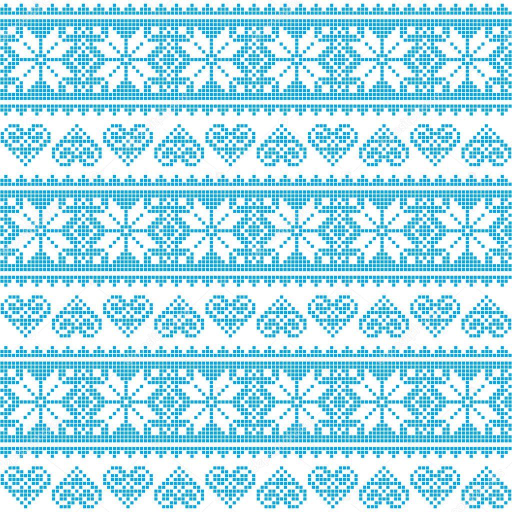 InviernoPatrón Pixelado Azul Corazones Inconsútil Navidad Con dxeCBor