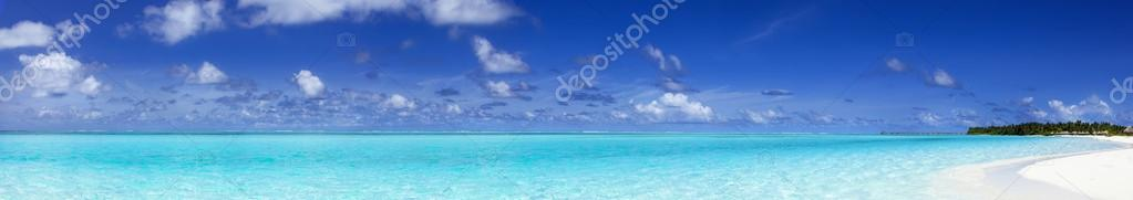panoramic view of the tropical sea