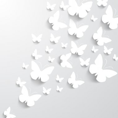 Background with Butterflies stock vector