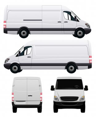 White Commercial Vehicle