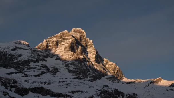 Matterhorn, sunset in time lapse