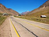 Fotografie Mountain road in the Andes a Los Penitentes ski resort in Mendoza, Argentina, South America