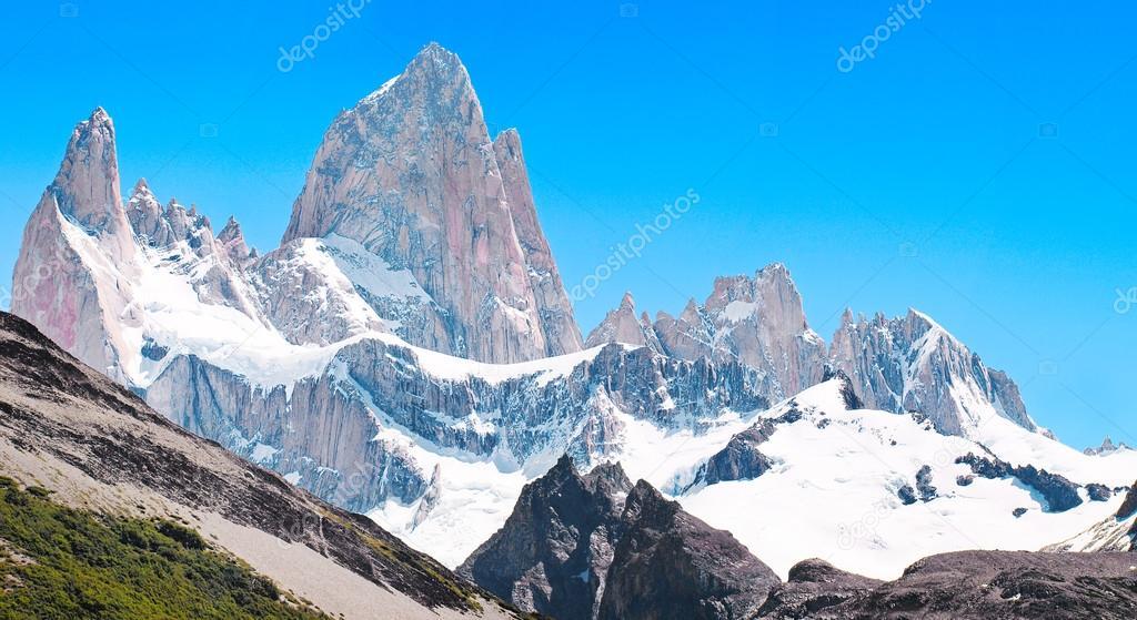 Mt Fitz Roy summit in Los Glaciares National Park, Patagonia, Argentina
