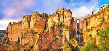 Panoramic view of the city of Ronda in Andalusia, Spain