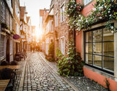 Fotografie Historic Schnoorviertel at sunset in Bremen, Germany