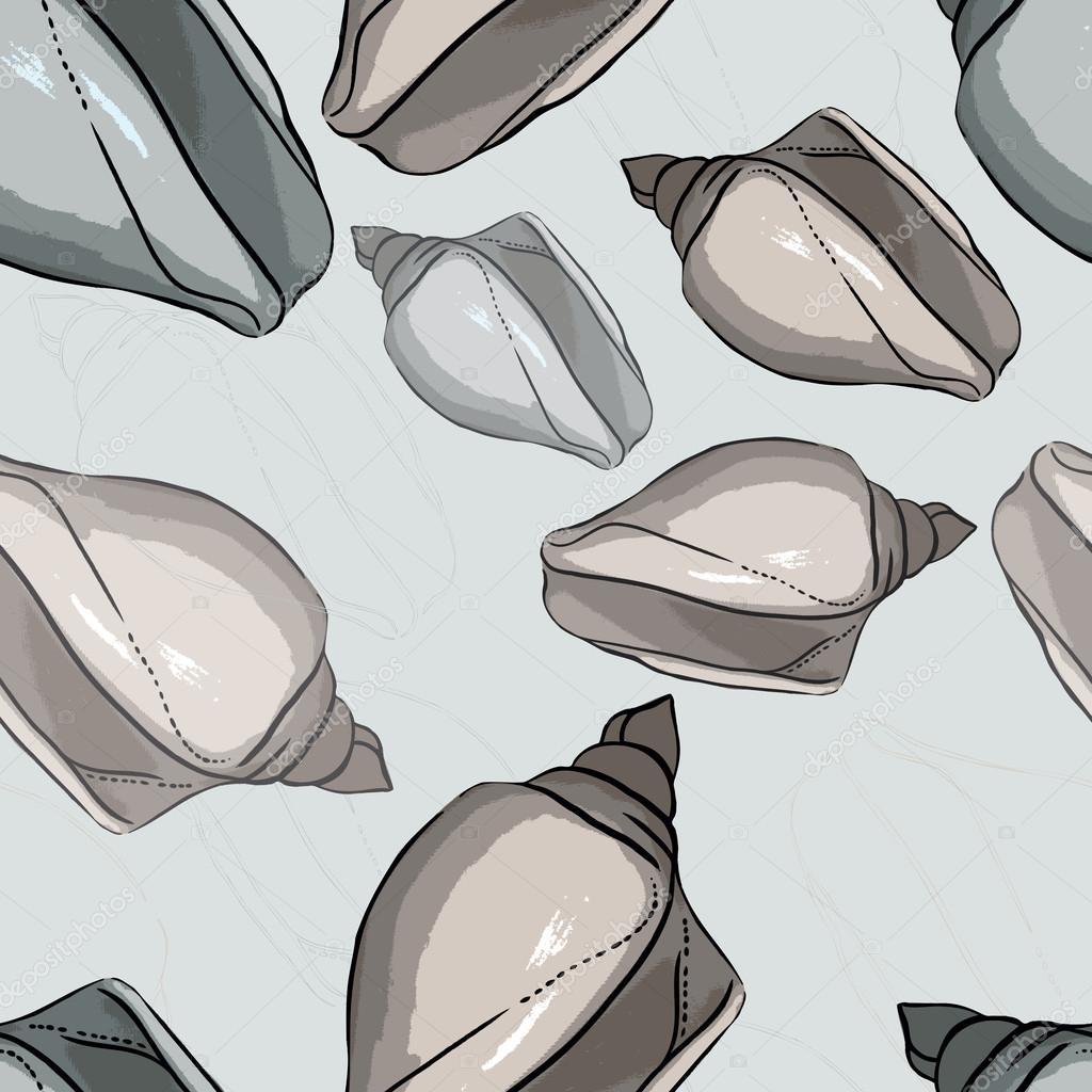 Seamless pattern of trace shells