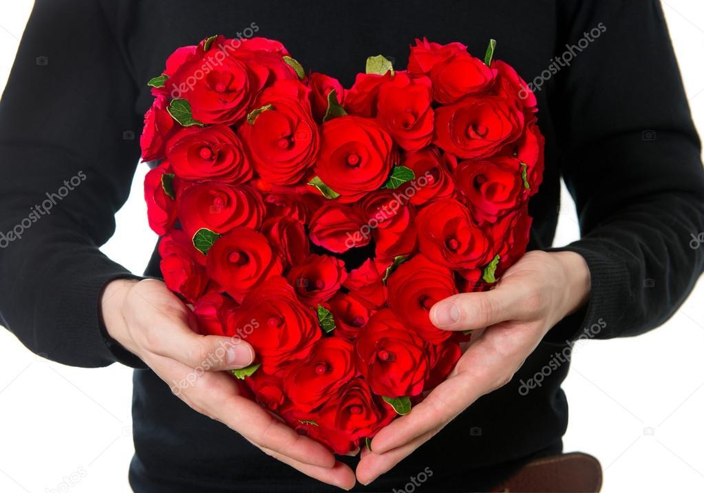 Bouquet de fleurs en forme de coeur photographie - Bouquet de fleur en coeur ...