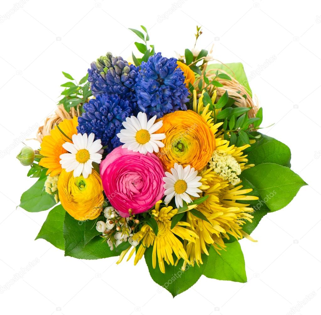Top beau bouquet de fleurs printanier coloré — Photo #13510627 GN82