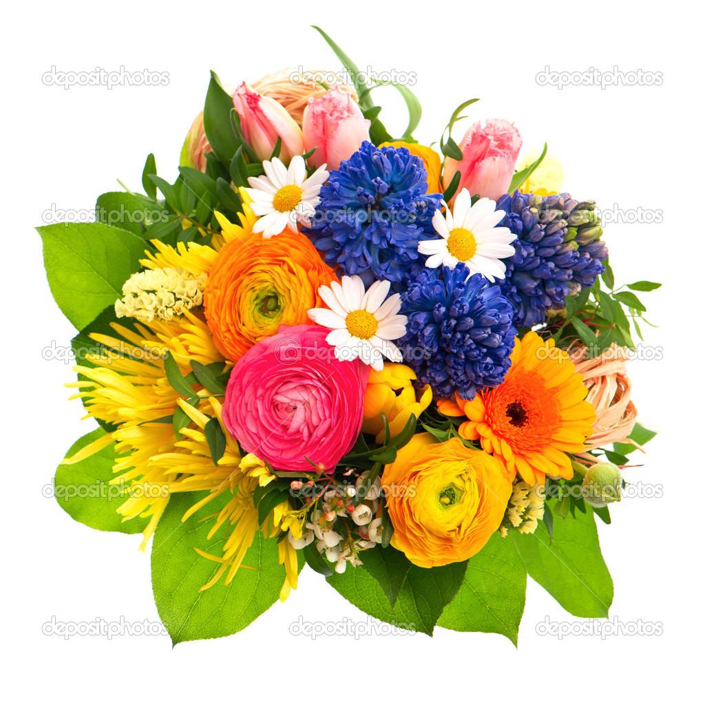 Souvent beau bouquet de fleurs printanier coloré — Photo #13519278 WA69