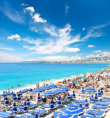 View of beach resort, Nice, France.