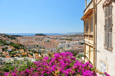 Panoramic view on Nice, France