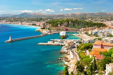 View of Nice, mediterranean resort