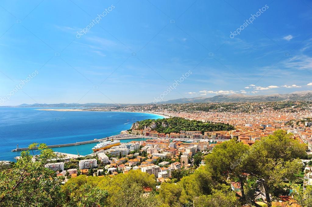 View of mediterranean resort, Nice, France.