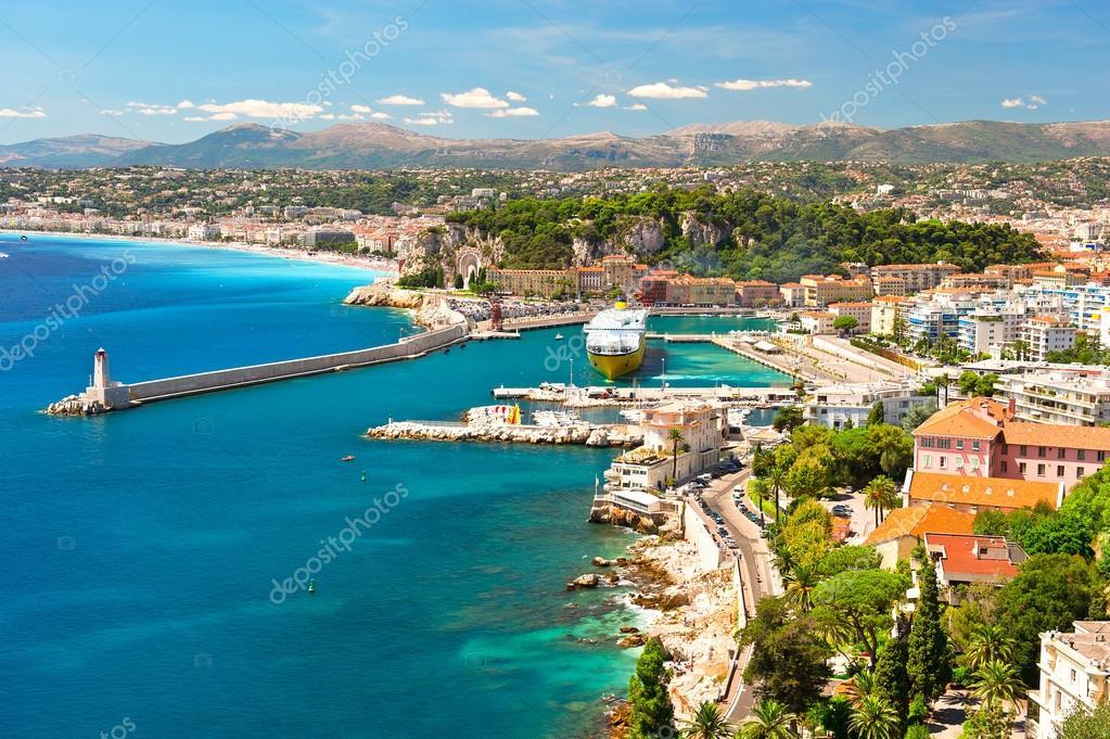 View of Nice, mediterranean resort