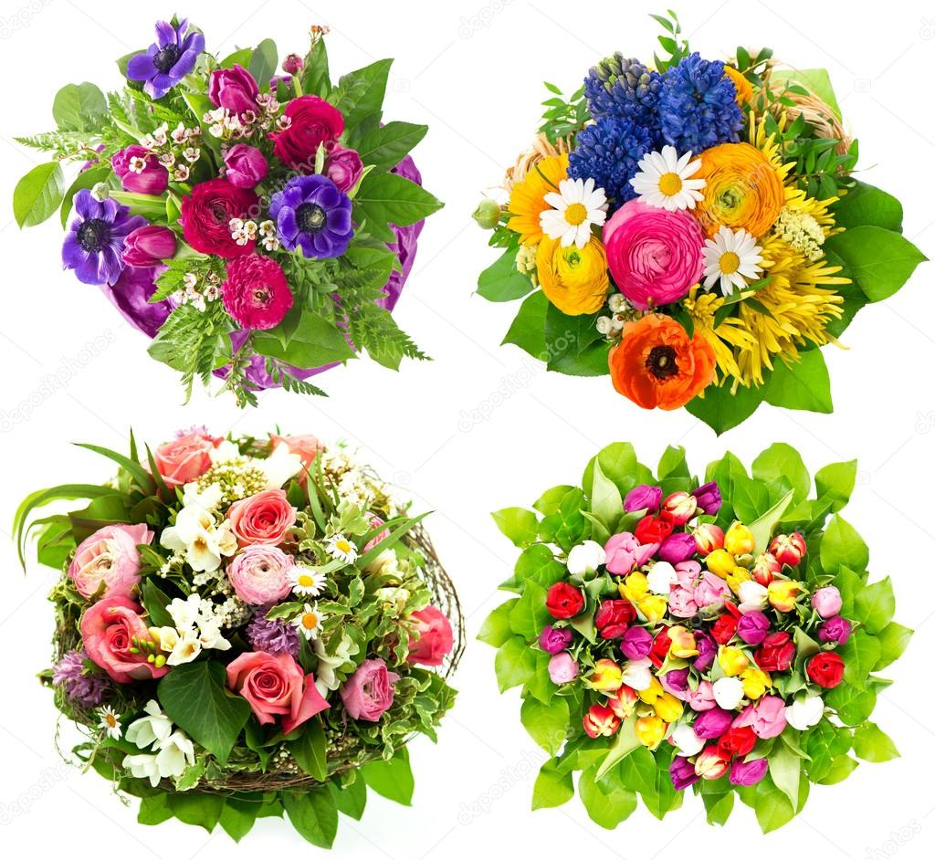 Beautiful colorful fresh flowers bouquet