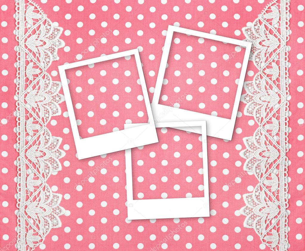 tres fotos marcos para fotos sobre fondo rosa — Foto de stock ...