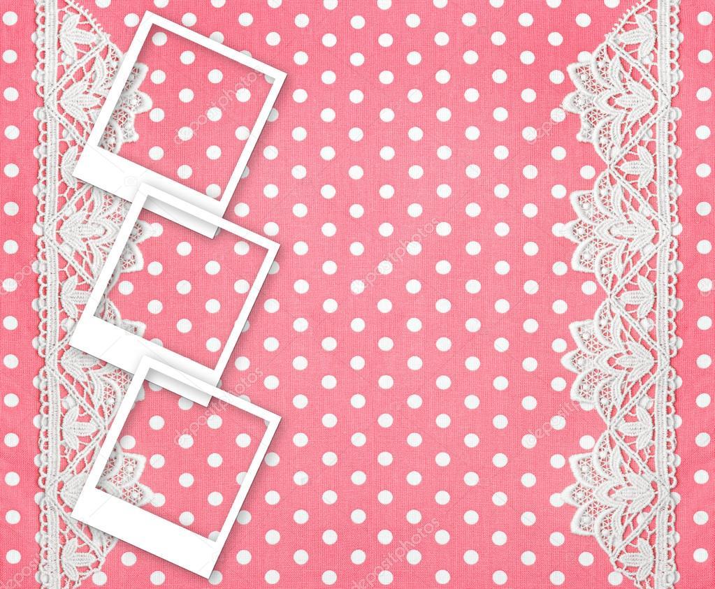 tres fotos marcos para fotos sobre fondo rosa — Fotos de Stock ...