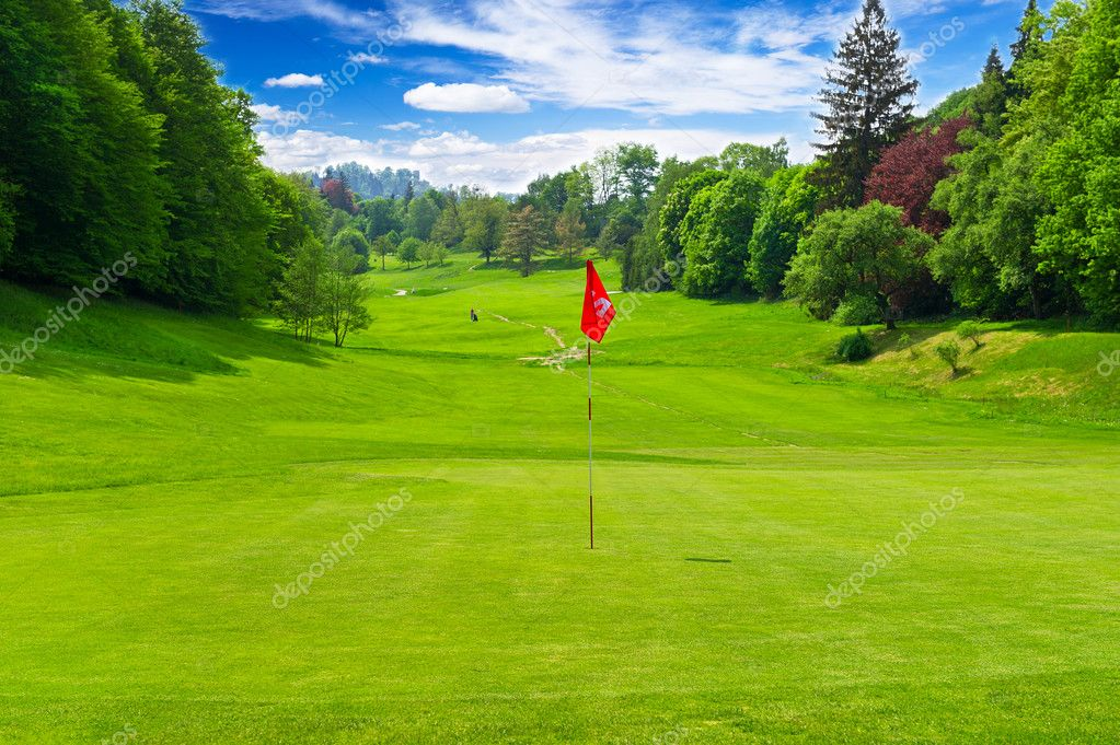 golf field. european landscape