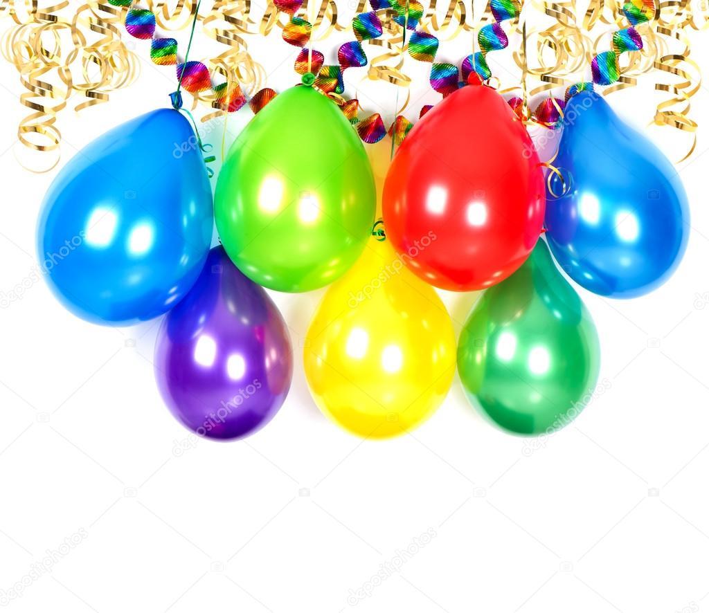 Luftballons Luftschlangen Und Girlanden Party Dekoration