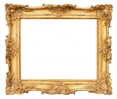 old golden frame. vintage background