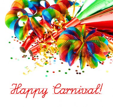 festive background with carnival decoration