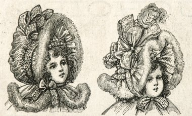 portrait of little victorian girl in vintage hat