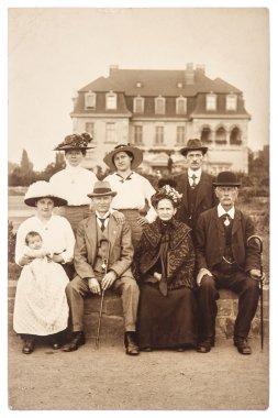 Antique portrait of a wealthy family