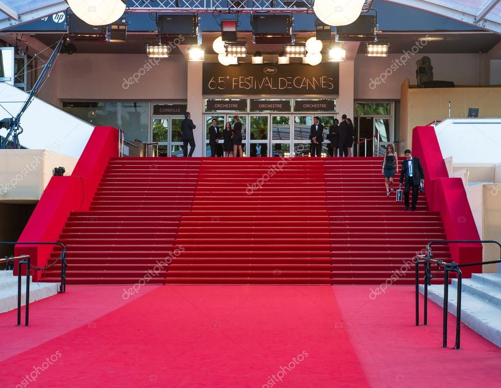 CANNES, FRANCE - MAY 23, 2012: Palais des Festivals during the 65th Annual Cannes  Film Festival on May 23, 2012 in Cannes, France — Photo by LiliGraphie