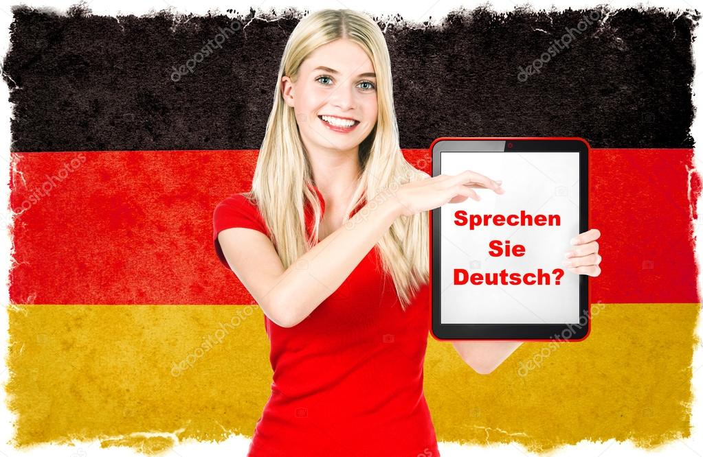 german language learning concept