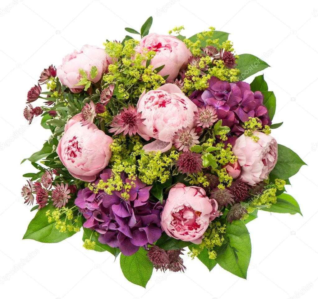 Bouquet of beautiful pink peony flowers on white background bouquet of beautiful pink peony flowers on white background stock photo 27679379 dhlflorist Images