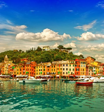 Ligurian coast, mediterranean sea
