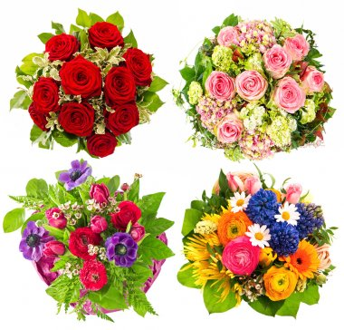 Set of flowers bouquet