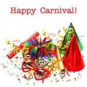 Strana dekorace girlandy, konfety, návazce. Karneval